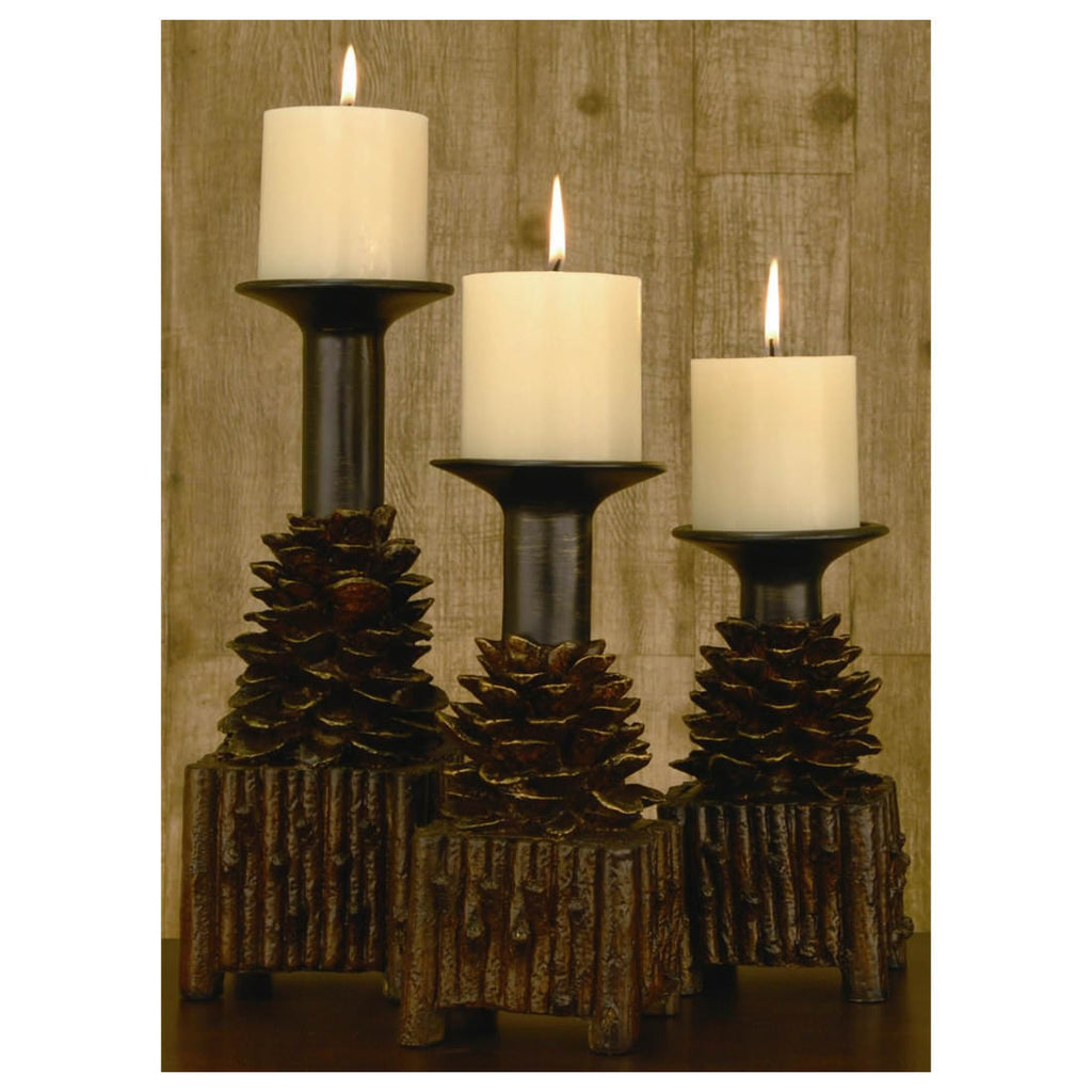Pinola Resin Candle Holder Set of 3
