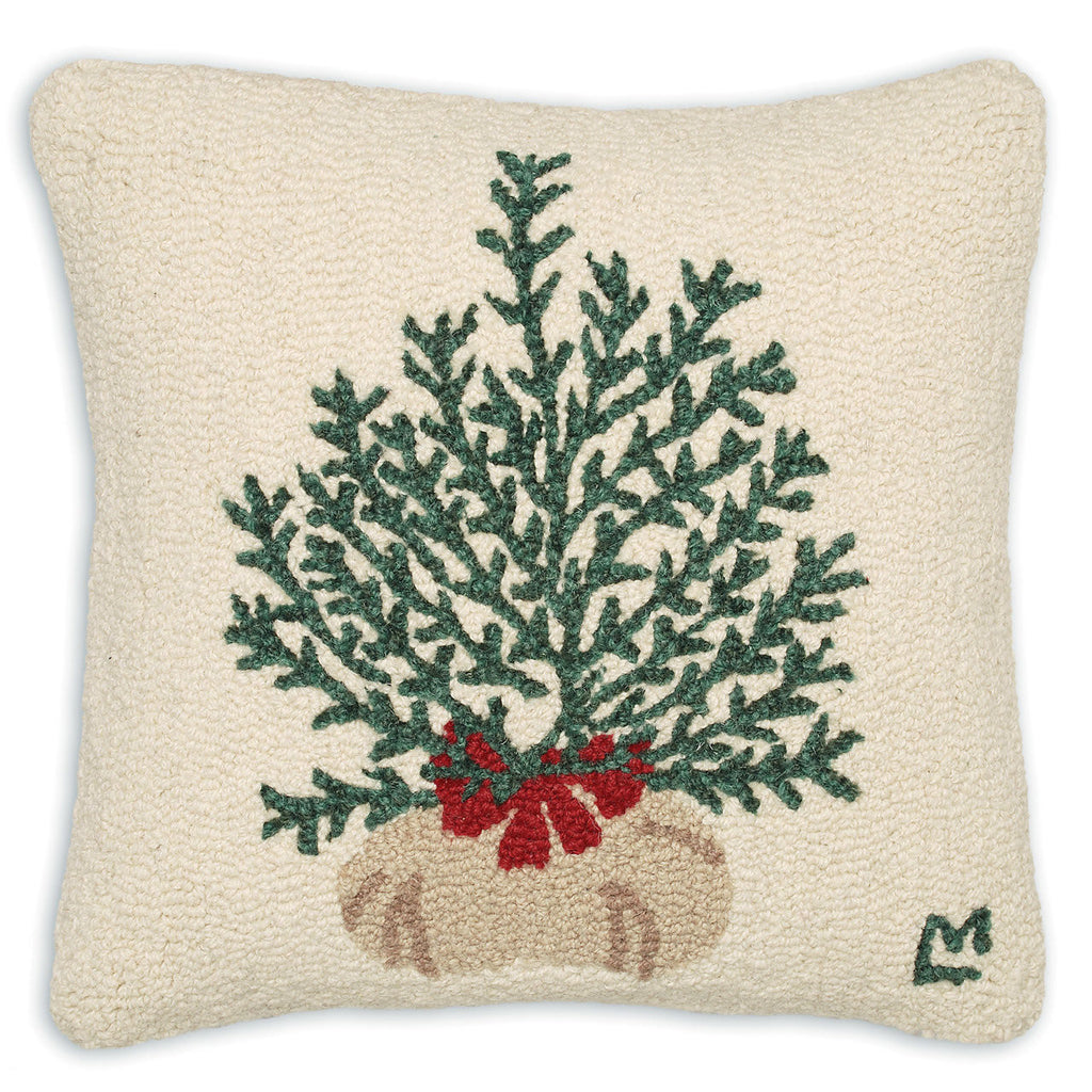 Plant A Tree Hooked Wool Pillow 18""