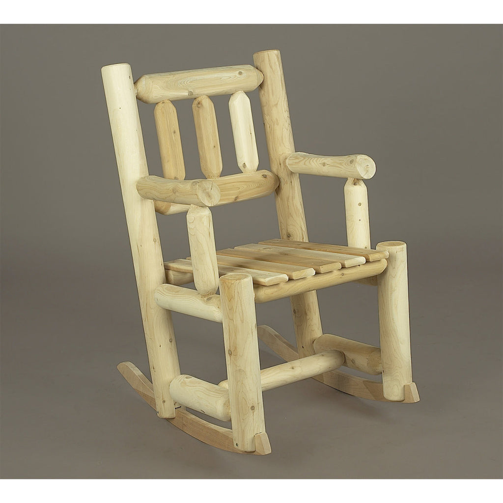 White Cedar Log Porch Rocker