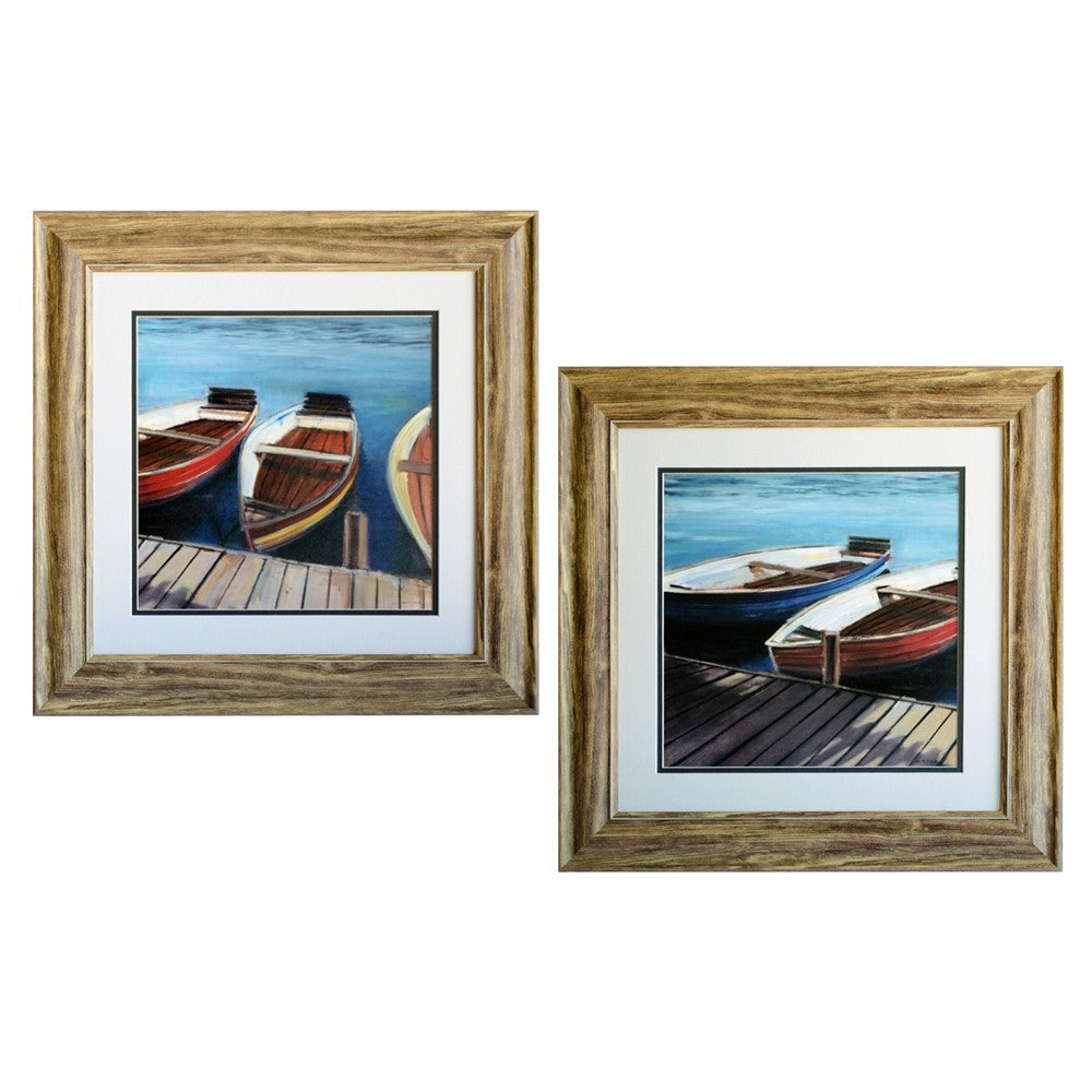 Row Boats 1 & 2 Framed Print Pair