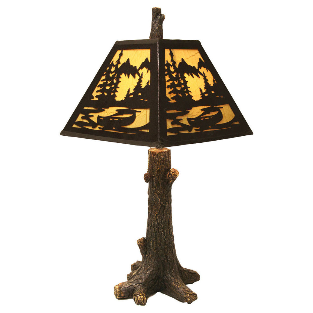 Rustic Tree Table Lamp