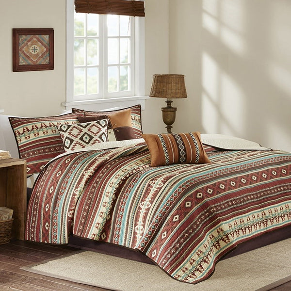 Taos Quilted Coverlet Set - Spice Side