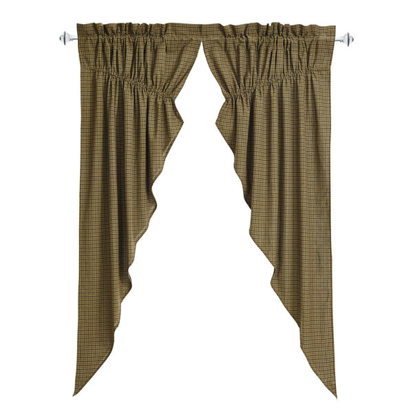 "Tea Cabin Prairie Curtain Lined Set of Two 63""L x 36""W x 18"" Center Drop"