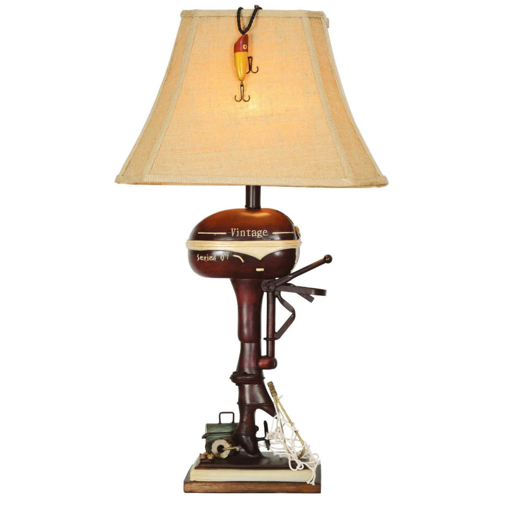 Vintage Boat Motor Table Lamp