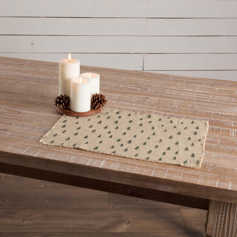 Vintage Burlap Tree Placemat Set