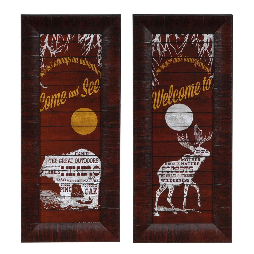 The Great Outdoors Signs Framed Pair