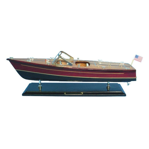 "Wooden Chris Craft Dual Cockpit Speedboat Replica Model 20""L"