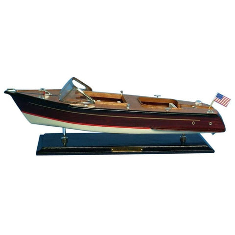 "Wooden Chris Craft Runabout Speedboat Replica Model 20""L"