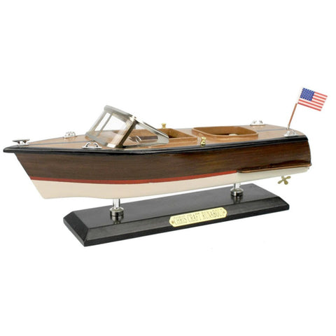 "Wooden Chris Craft Runabout Speedboat Replica Model 14""L"