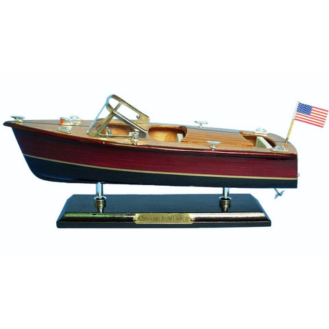 "Wooden Chris Craft Triple Cockpit Speedboat Replica Model 14""L"