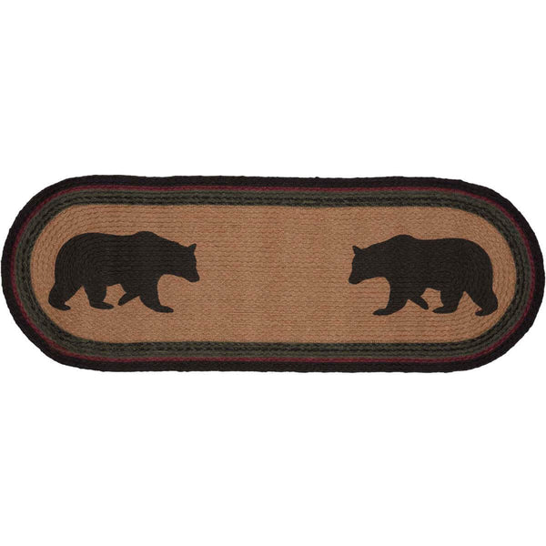 Wyatt Bear Table Runner (Available in 2 sizes) Front