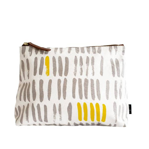 Vertical Strokes Grey Pouch