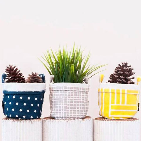 Woven Recycled Canvas Buckets
