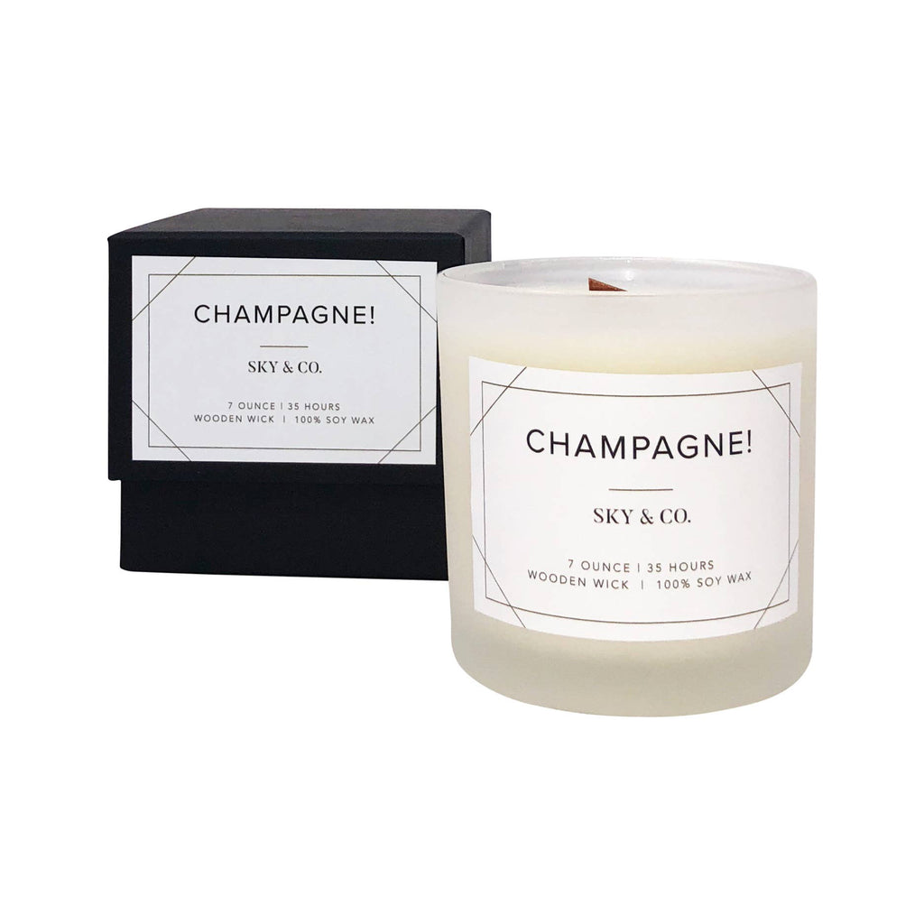 Sky and Company - Champange - Wooden Wick Candle