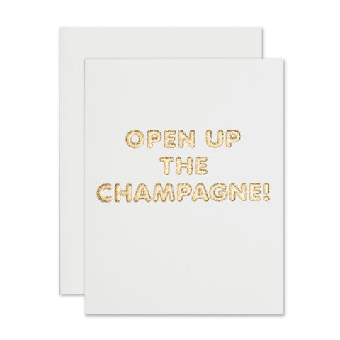 The Social Type - Open Up Champagne Congrats Card