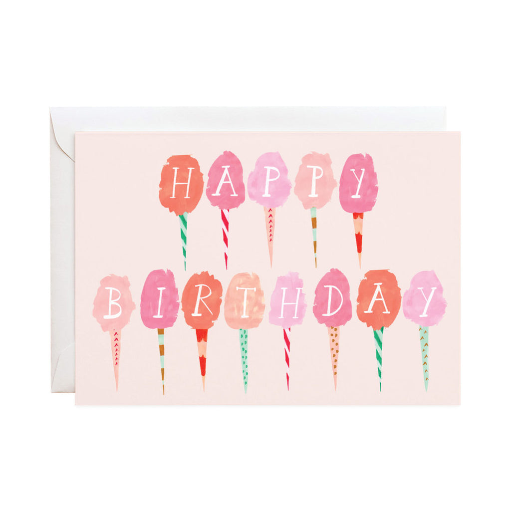 Happy Birthday Cotton Candy Card