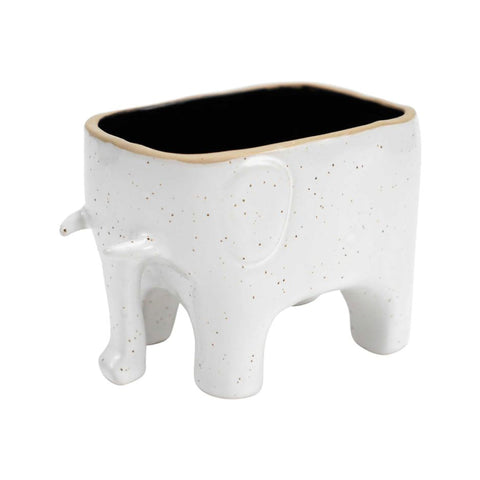 Speckled Elephant Planter Stoneware