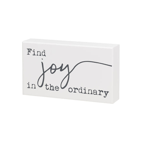 Find Joy Wooden Sign