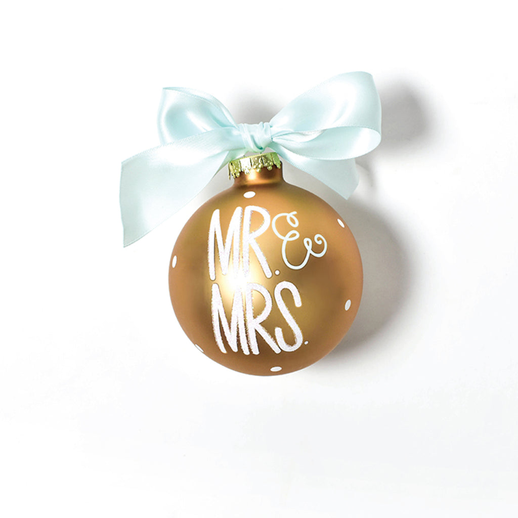 Mr. And Mrs. Glass Ornament