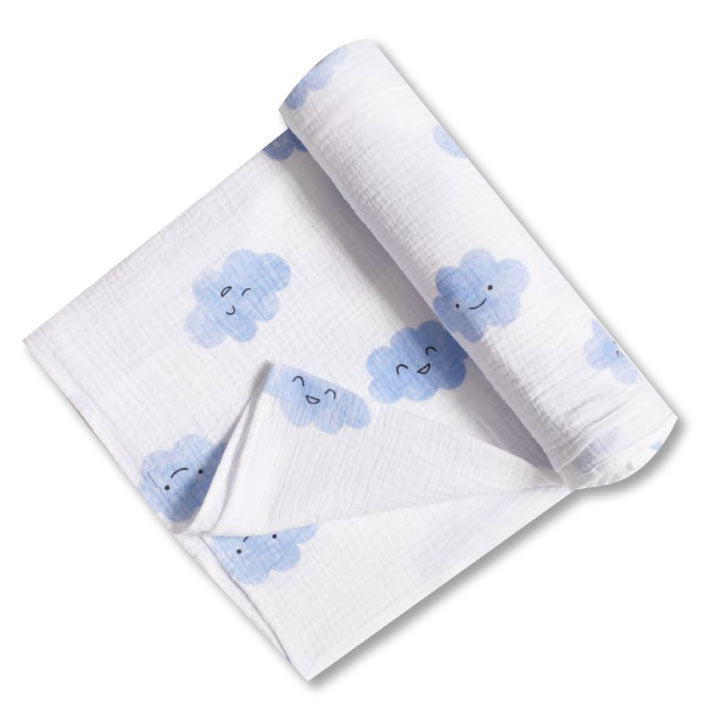 Happy Clouds Swaddle Blanket