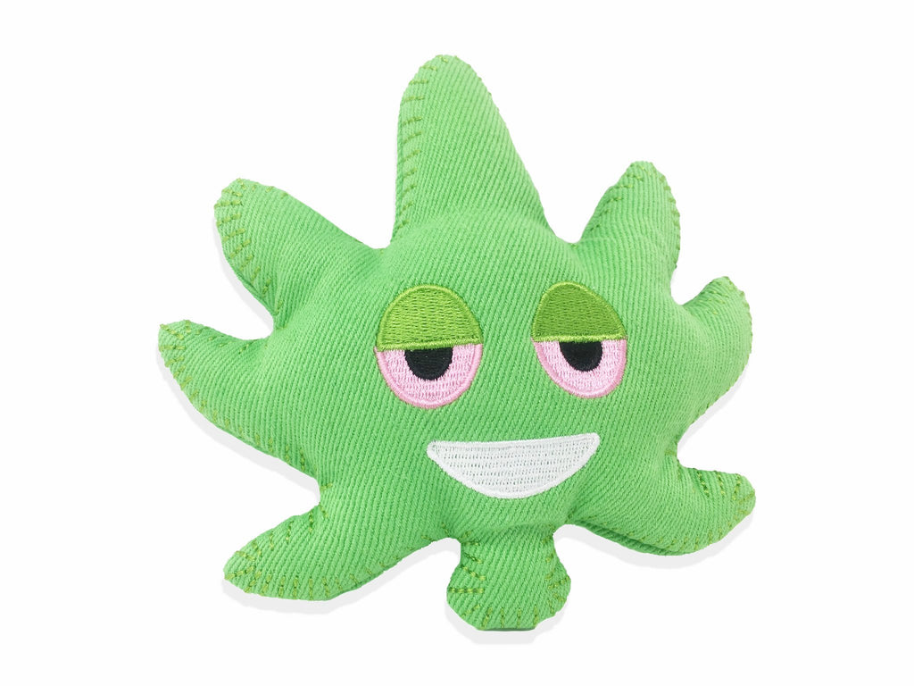 ichief weed leaf emoji hemp dog toy 1