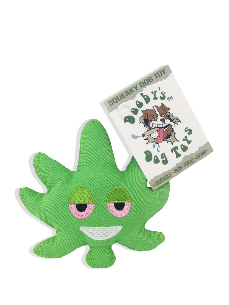 ichief weed leaf emoji hemp dog toy 2