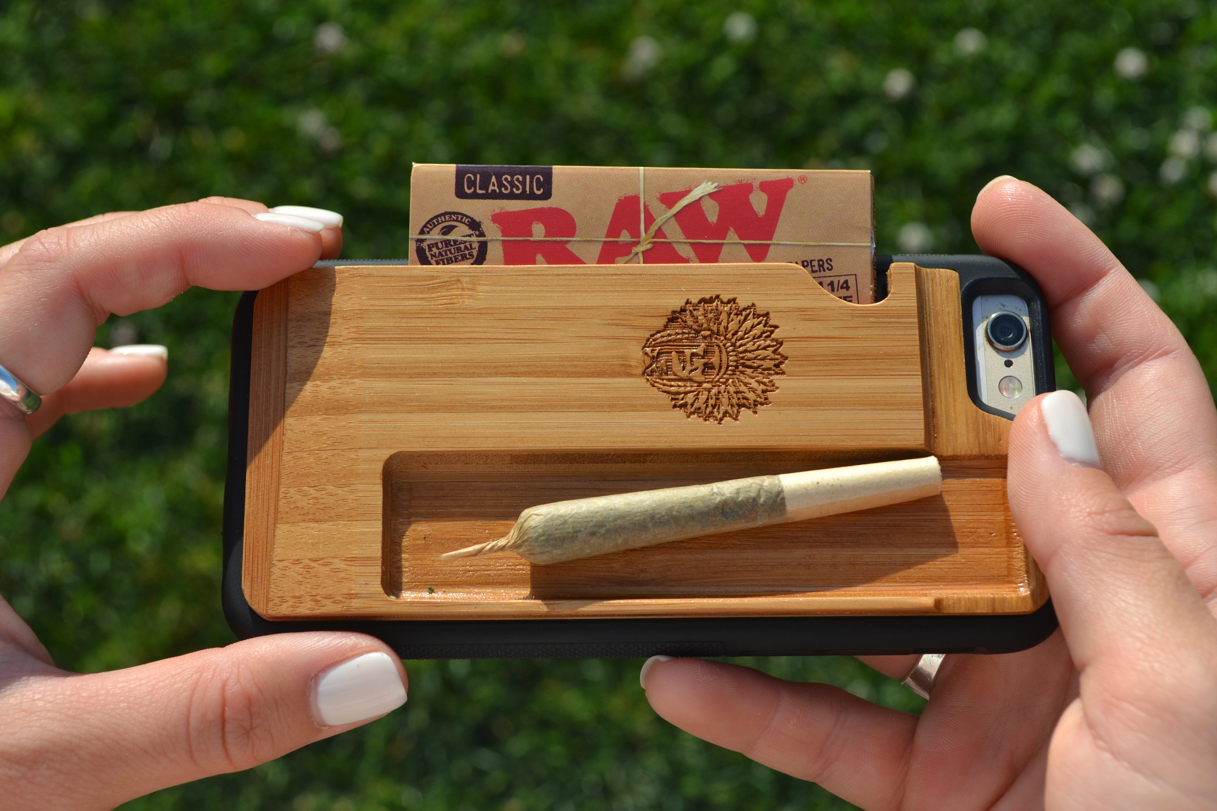 best service 6bf53 9488f iChief iPhone Rolling Tray Case
