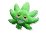 weed leaf emoji hemp dog toy 3