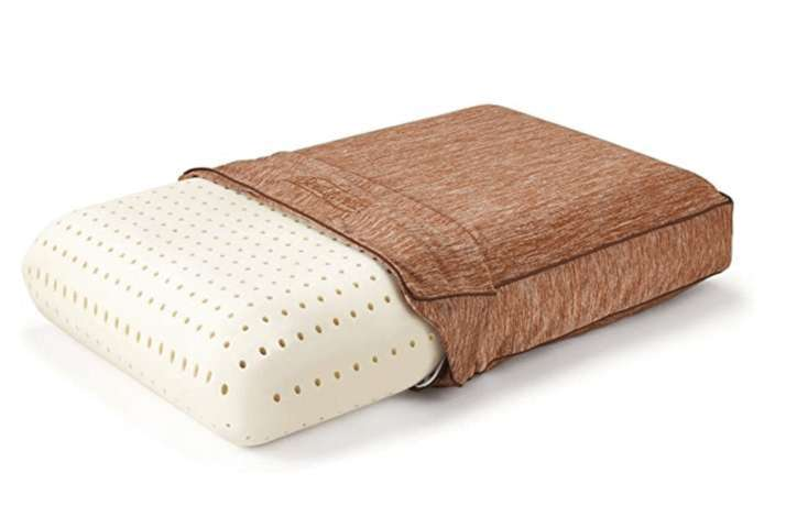 Beautyrest Copper Pillow half fitted brown pillowcase