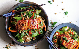 Ginger Peanut Salmon Noodle Bowls from The Alaska From Scratch Cookbook
