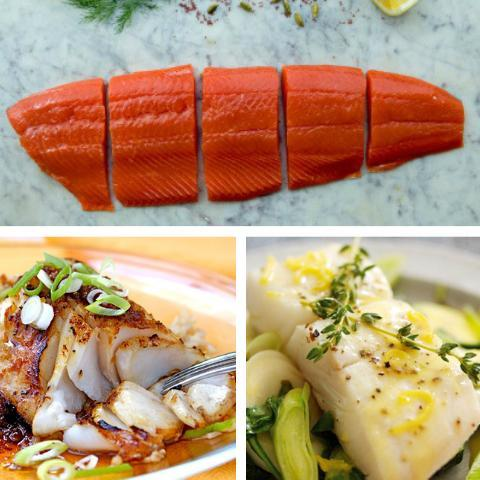 Available Now: Sockeye Salmon, Halibut, and Salmon Burger