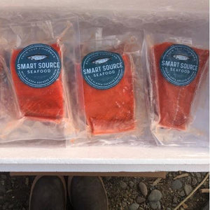 PREORDER Sockeye Salmon 6-8 oz. portions: 10-50 lb. boxes