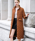 2017 light and thin over the knee duck down jacket - Solodresses