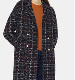 2017 womens pearl double breasted lattice woolen coat - Solodresses