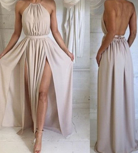 Open Back Prom Dress,A-line Prom Dress,Sexy Prom Dresses,Simple Prom Dresses,Cheap Long Prom Dresses - Solodresses