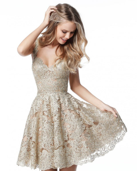 Short Lace Prom Dresses, Short Homecoming Dresses - Solodresses