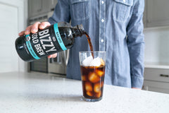 Bizzy Coffee Cold Brew Concentrate pouring into glass