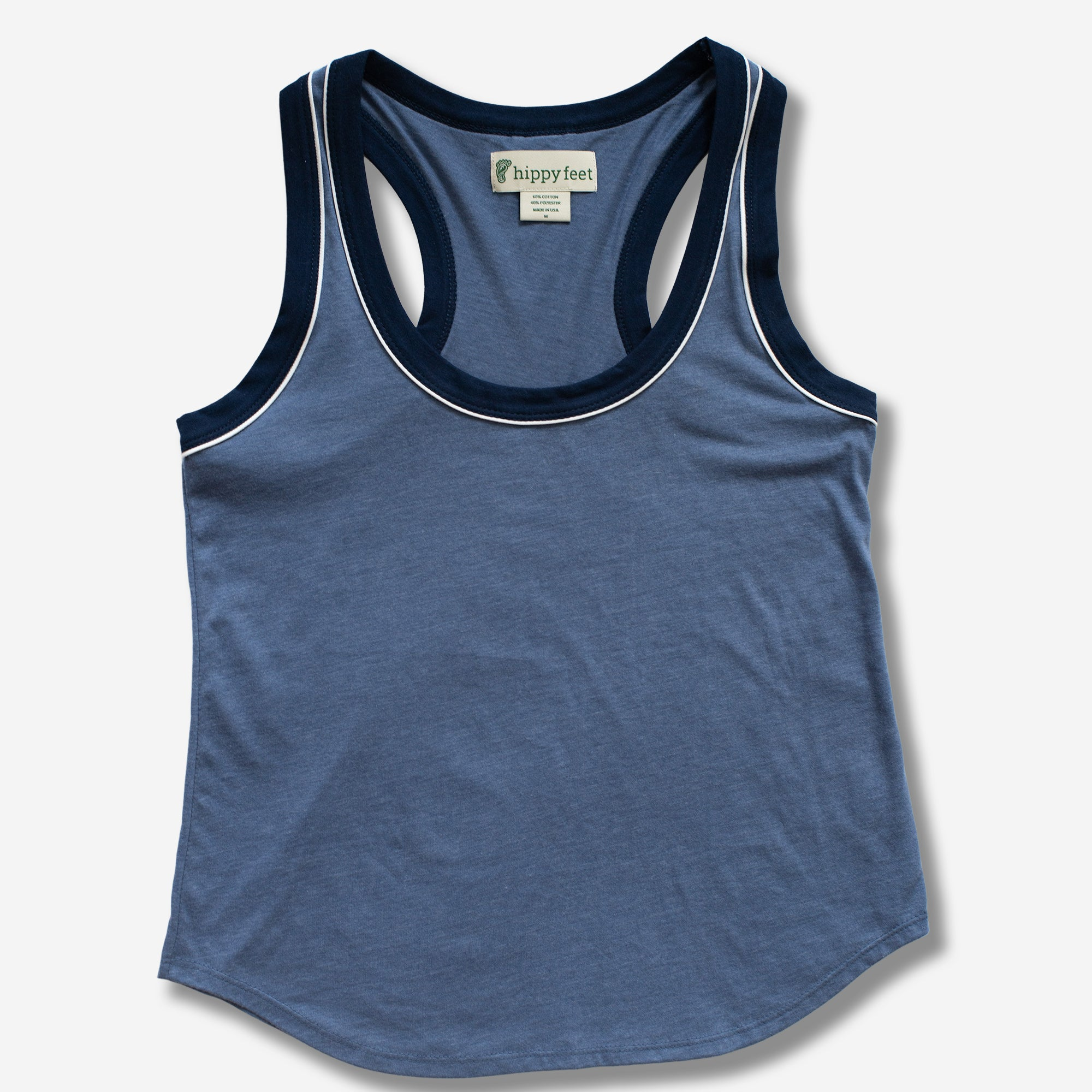 Blue American Made Tank Top