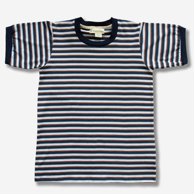 Horizontal Striped Blue Shirt