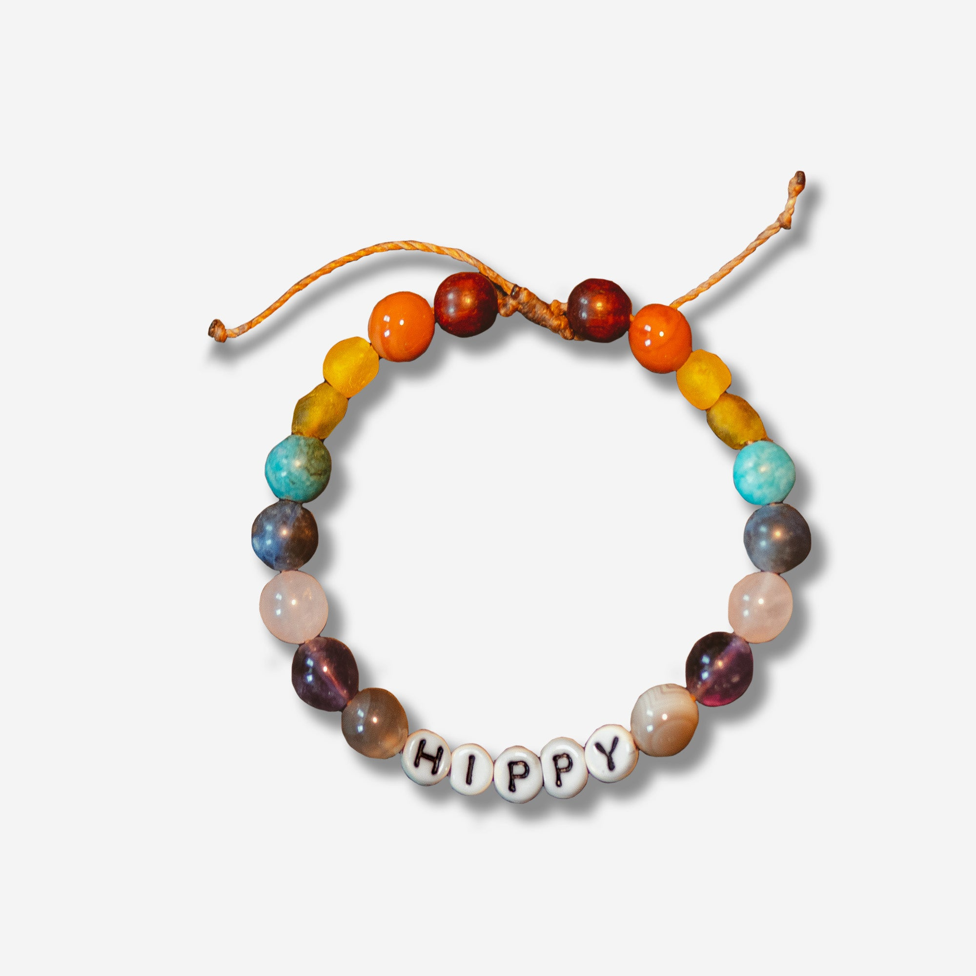 Hippy Feet Gemstone Friendship Bracelet