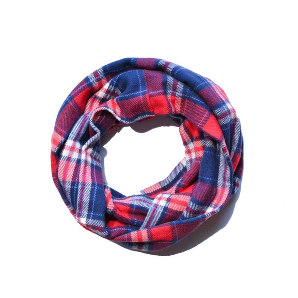 Red White & Blue Infinity Scarf