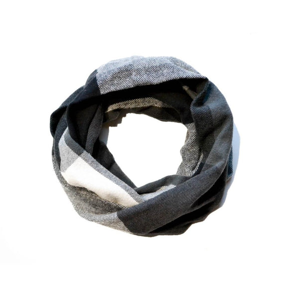 Black White & Gray Infinity Scarf