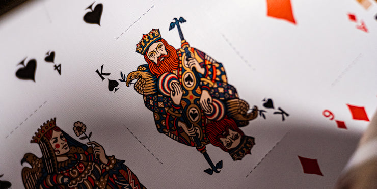 King of Spades in detail, with its copper metallic ink shining.