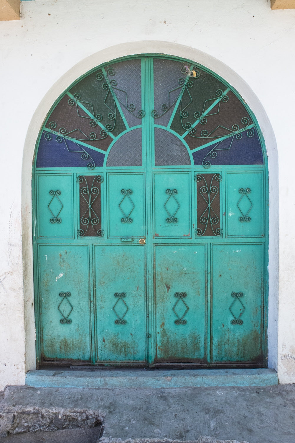 turquoise doorway in antigua