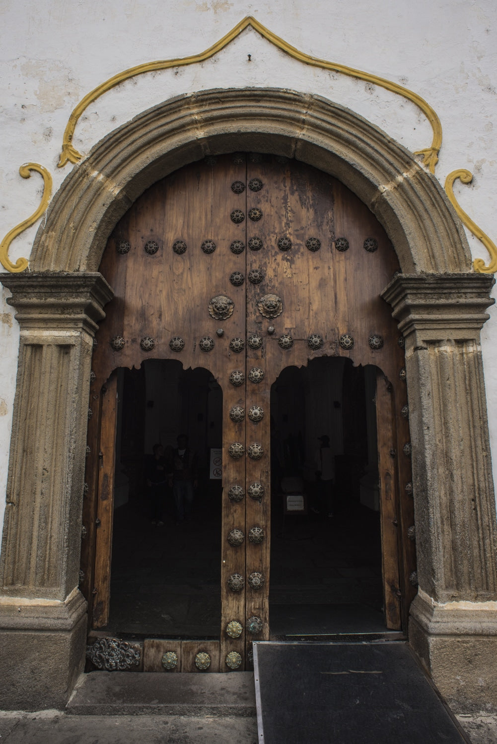 beautiful church doorway in antigua