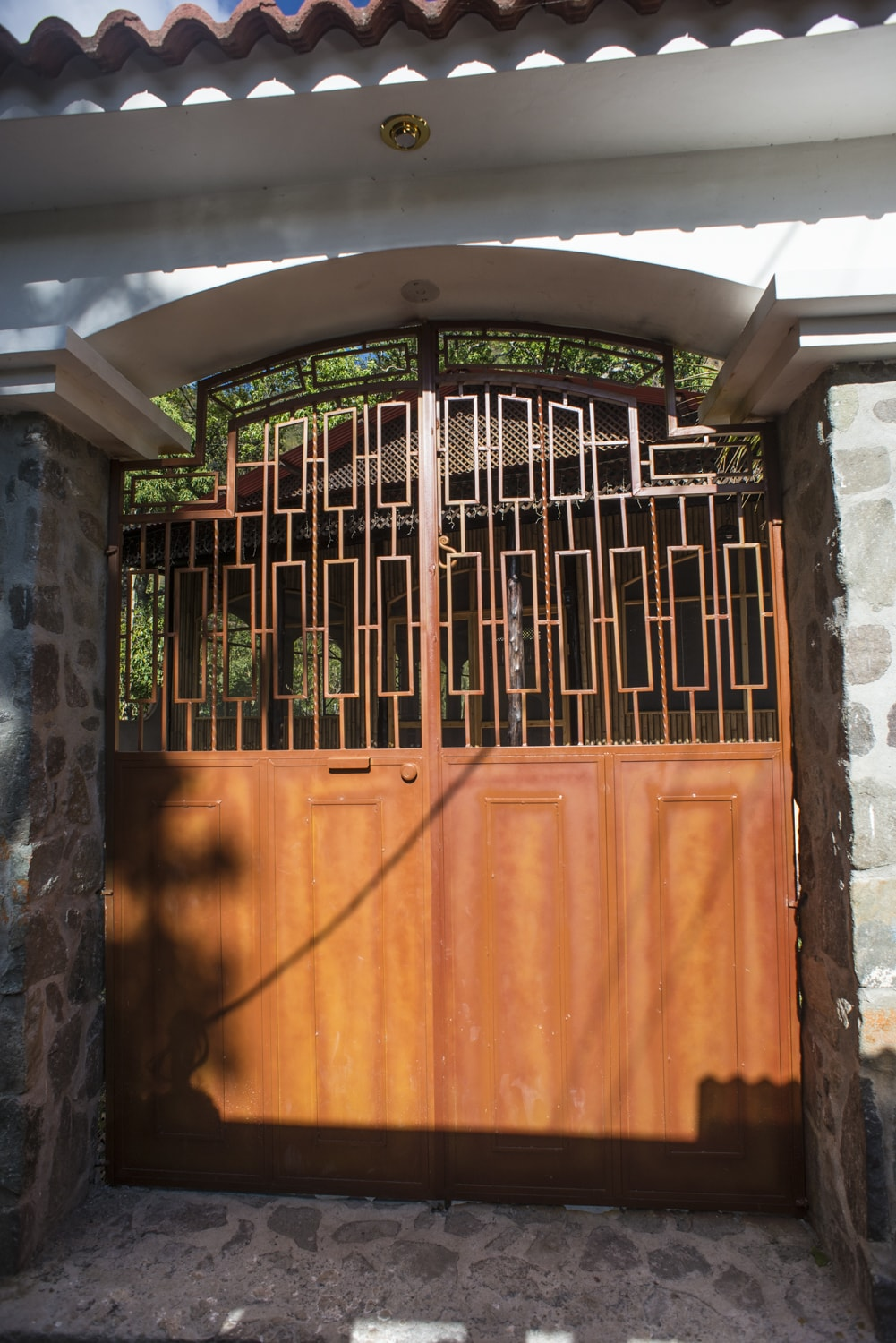 gorgeous wooden arched gate in antigua