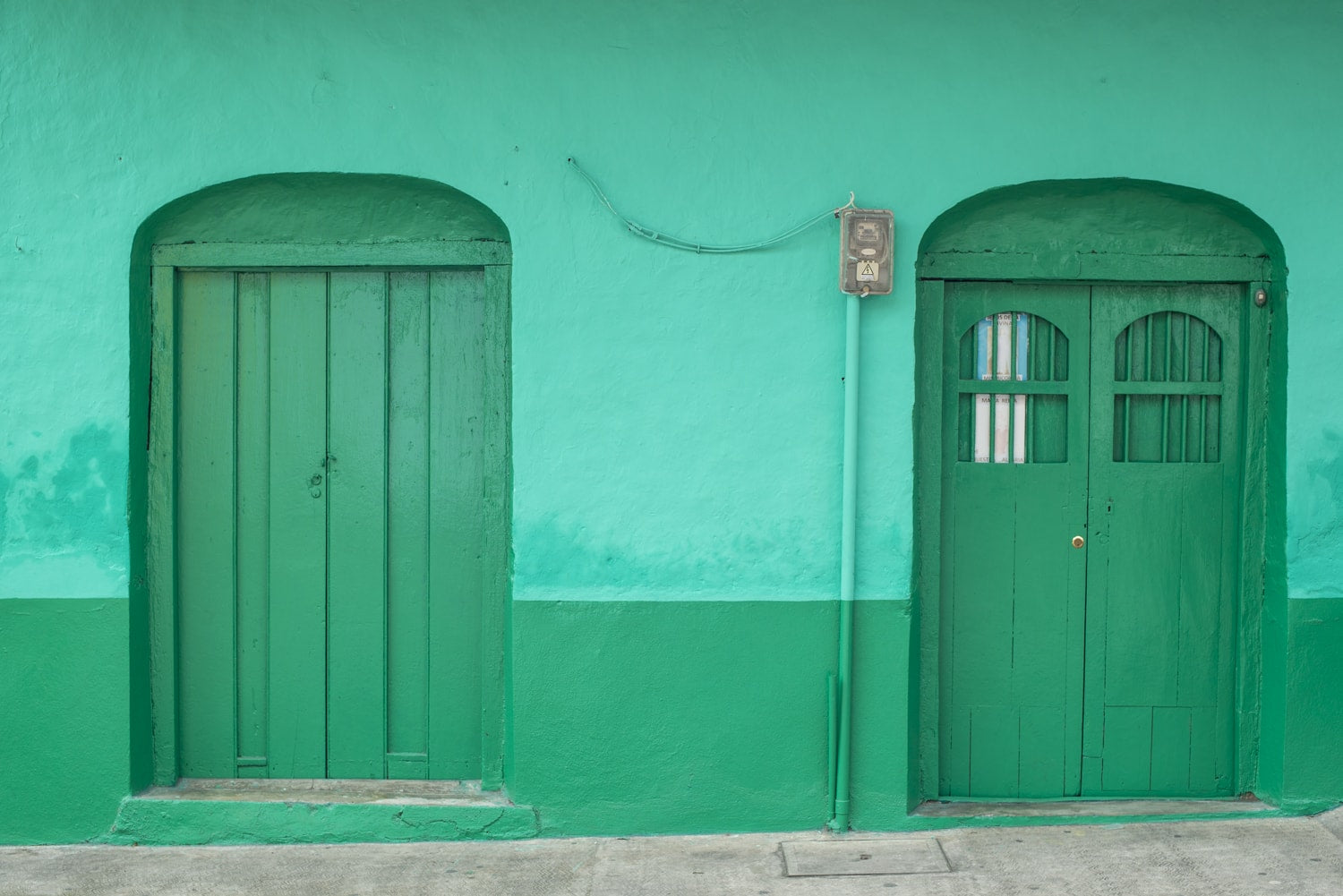 bright green doorway in guatemala