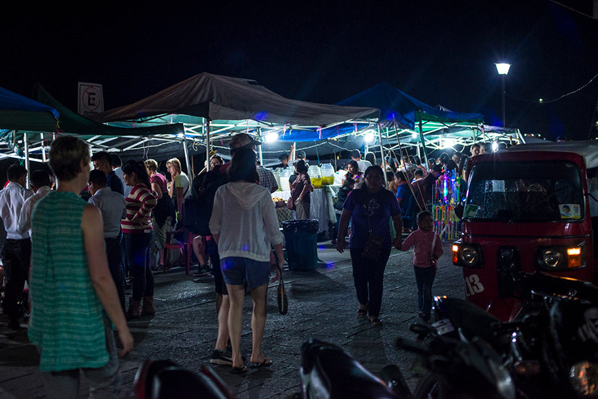 street food stalls in flores guatemala