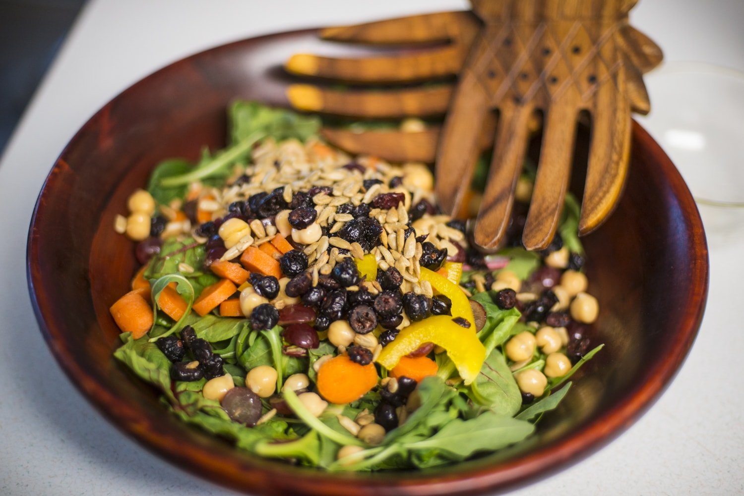 Crunchy Green Salad with Agave Nectar Dressing
