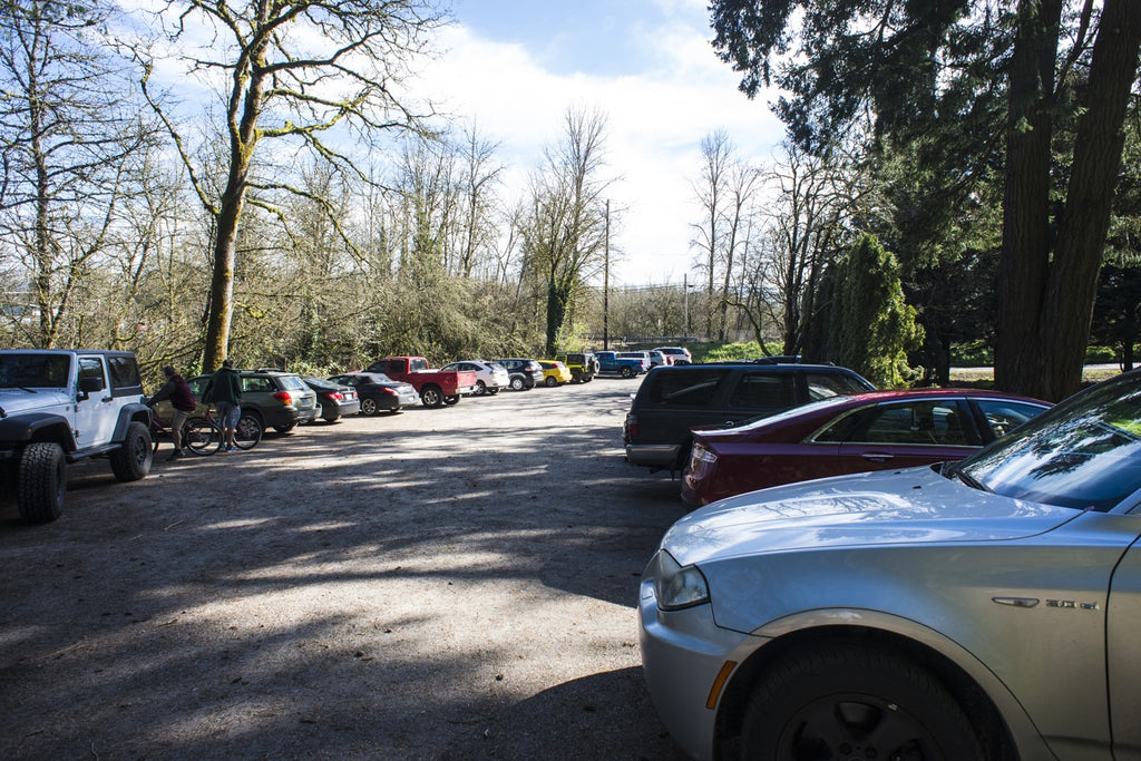 parking at lacamas creek trail